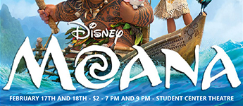 Flyer for screening of Moana